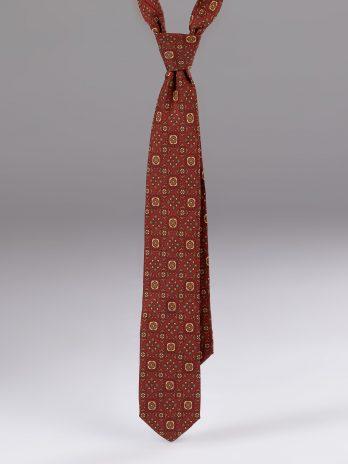 Cravata matase cu model caramizie zemve