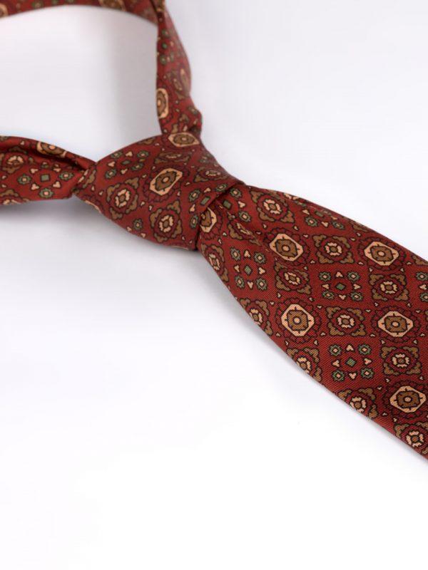 Cravata matase cu model caramizie