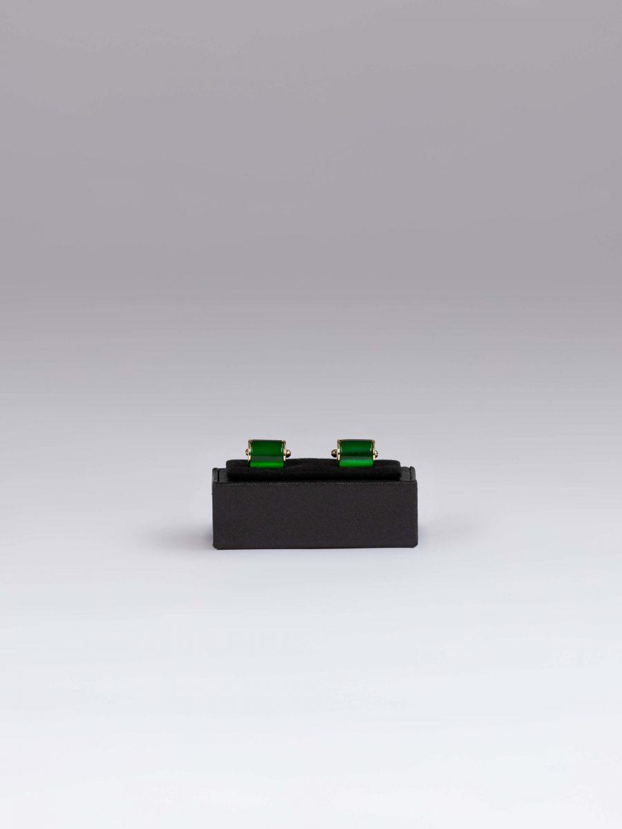 Butoni rectangulari verzi