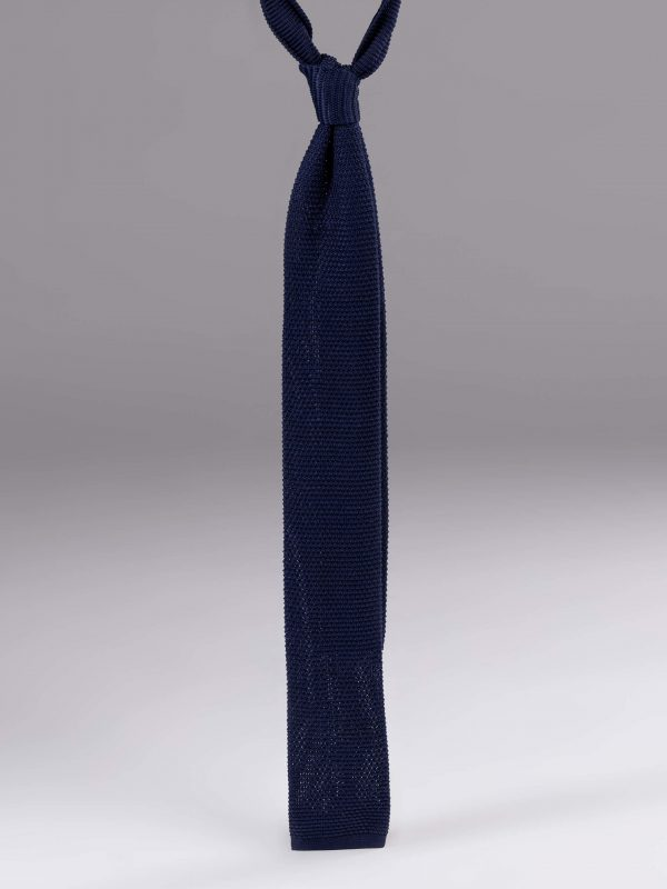 Cravata matase brodata albastra