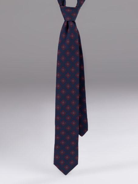 Cravata matase cu model albastra