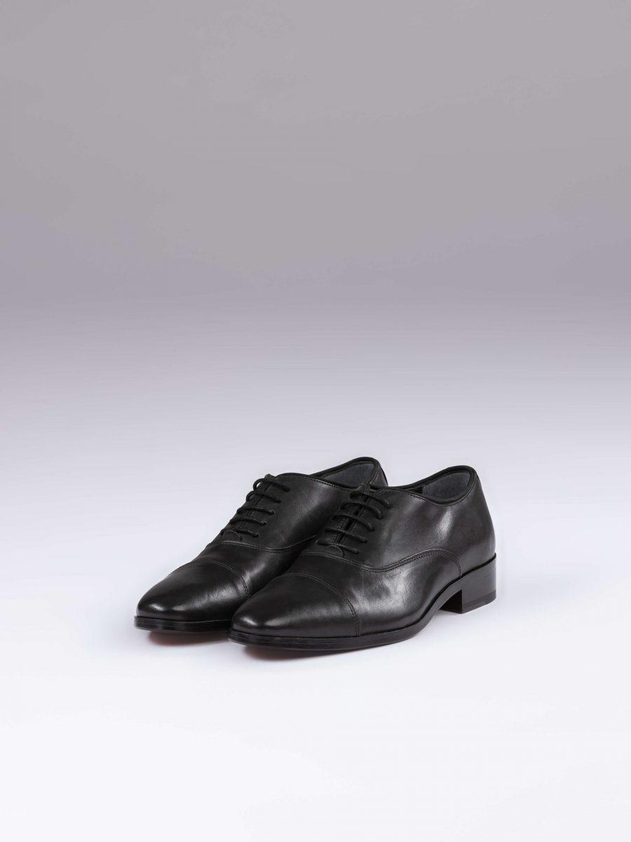 Pantofi oxford negri cap toe