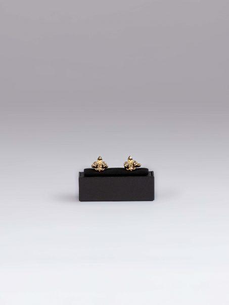 Butoni aurii Fleur de Lis