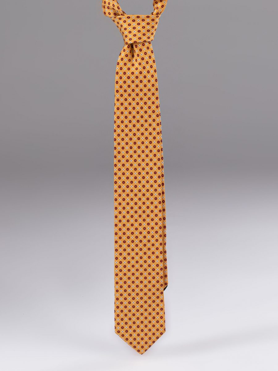 Cravata matase cu model portocalie