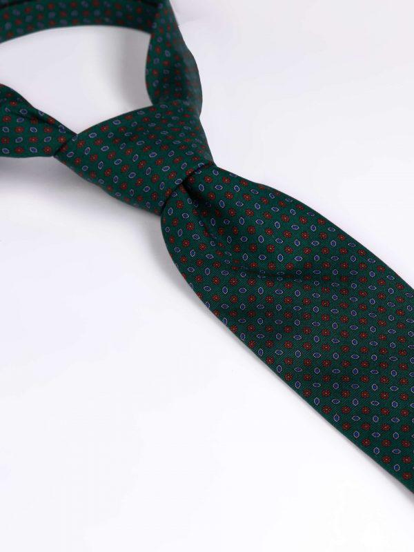 Cravata matase cu model verde
