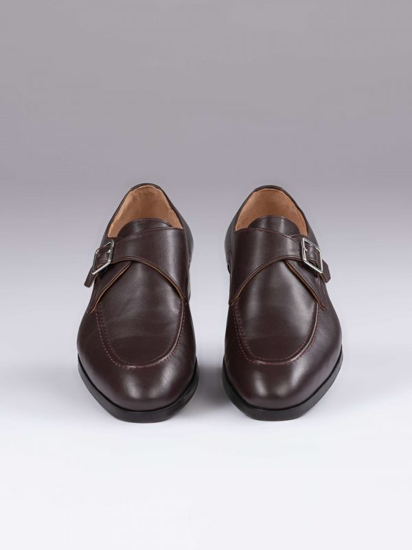 Pantofi single monk maro