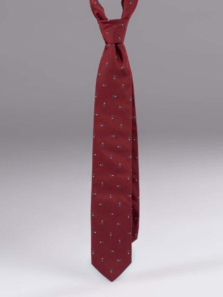 Cravata matase cu model visinie