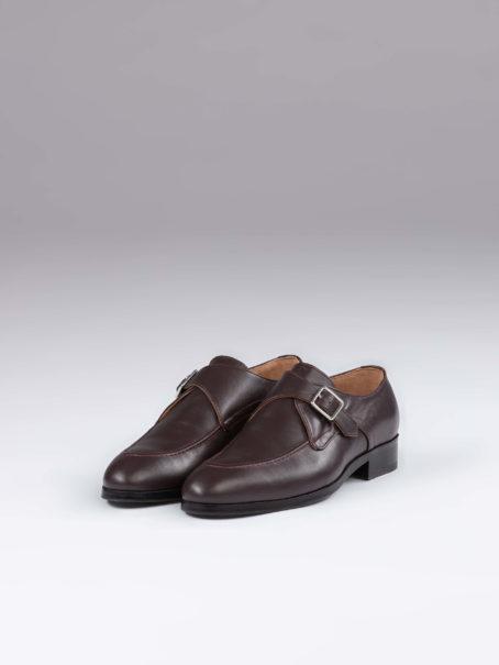 Pantofi single monk maro